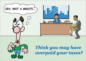 Think you may have overpaid your taxes?